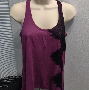 Tank with lace detail